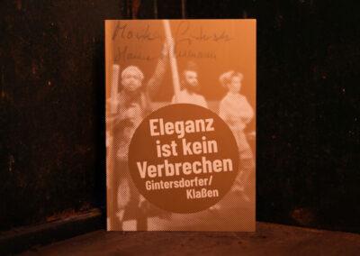 ELEGANZ IST KEIN VERBRECHEN (Gintersdorfer / Klaßen)